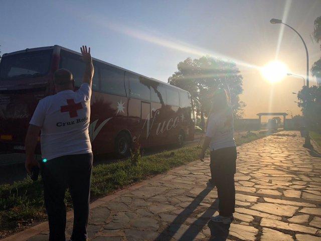 Parten hacia otros puntos de España otros 46 migrantes del centro de acogida de Mérida