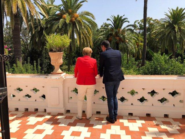 Angela Merkel i Pedro Sánchez a Sanlúcar