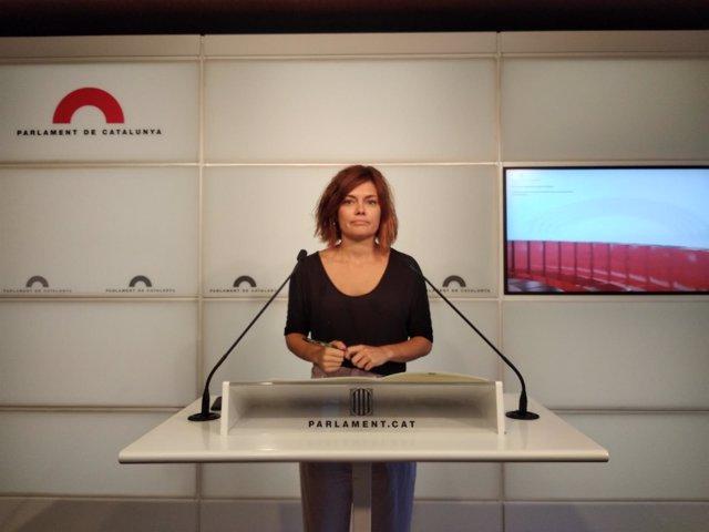 La portavoz de los CatECP, Elisenda Alamany