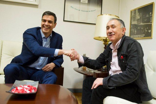 Pedro Sánchez y Josep María Álvarez