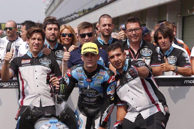 Arón Canet, en el Gran Premio de la República Checa