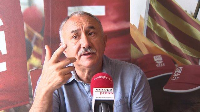 El secretari general d'UGT Josep Maria Álvarez