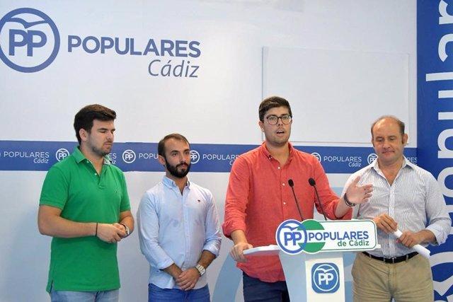 El presidente de NNGG de Cádiz, Gonzalo Oliver.