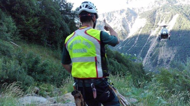Rescate en montaña de la Guardia Civil