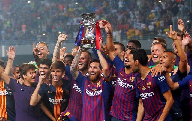 El FC Barcelona, campeón de la Supercopa