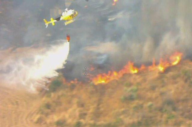Incendio en Guijo de Galisteo