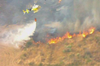 Estabilizado el incendio en Guijo de Galisteo, que ha desactivado el nivel 1 de peligrosidad