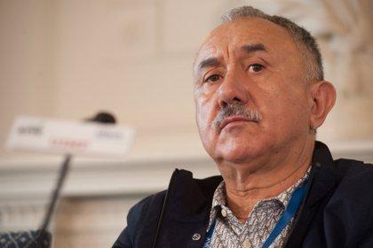 """Álvarez (UGT) dice que la existencia de presos independentistas """"no ayuda a generar un mejor clima en Cataluña"""""""