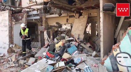 Este lunes está previsto que arranquen las labores de desescombro en el inmueble de Pozuelo afectado tras una explosión
