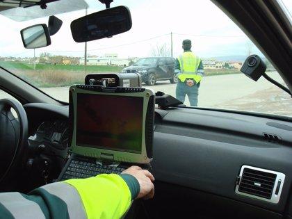 Detenido un motorista por circular a 120 km/h en un tramo limitado a 50 en la N-135 (Pamplona-Francia)