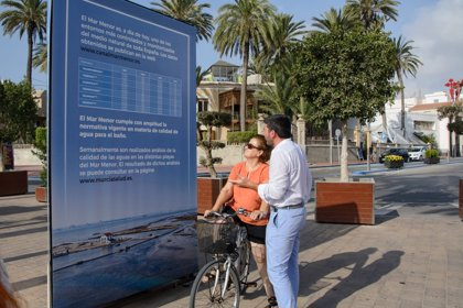 La transparencia media del Mar Menor sube hasta los 4,49 metros pese al aumento de temperatura, según la Comunidad