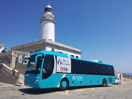 Unas 12.000 personas utilizan el bus de Formentor en julio y otras 98.000 viajan en las líneas Aerotib desde mayo
