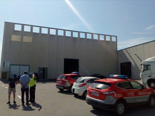 Accidente laboral en una empresa de Viana
