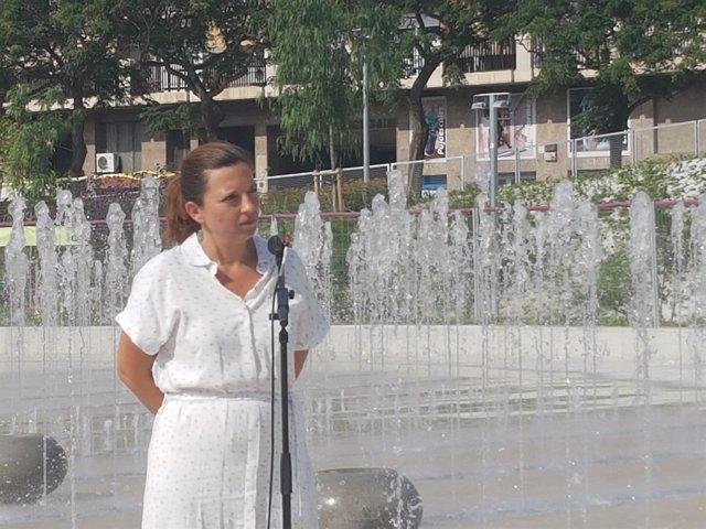La teniente de alcalde de Barcelona Laia Ortiz en rueda de prensa