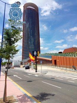 Nueva comisaría de Triana de la Policía Nacional junto a la Torre Sevilla