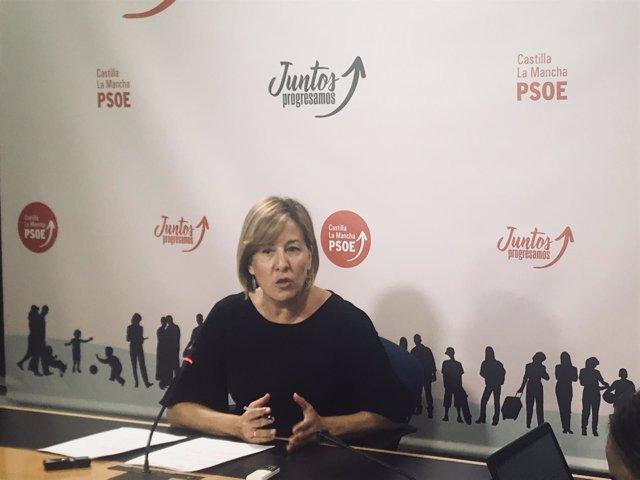 Blanca Fernández en rueda de prensa