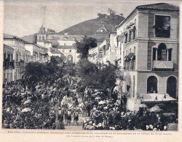 Grabado de la Feria de Málaga