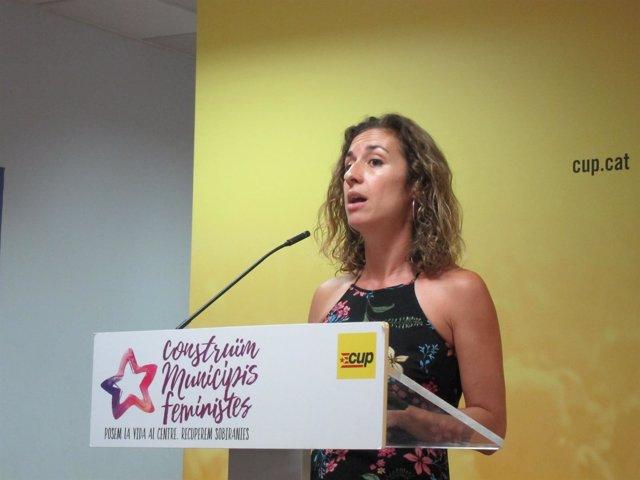 La portavoz del Secretariat Nacional de la CUP, Laia Estrada