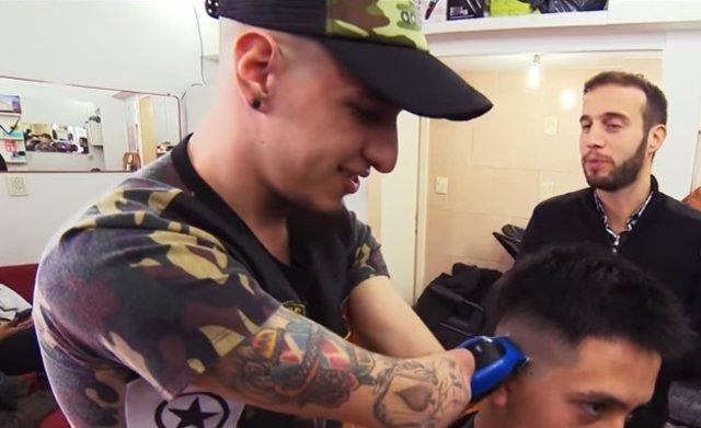 Gabriel Heredia, barbero en Argentina