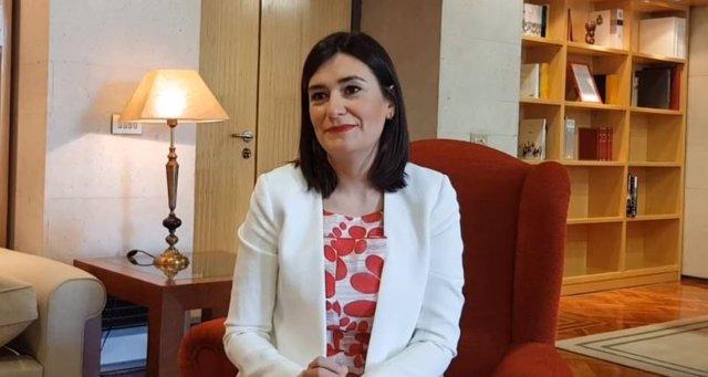 La ministra de Sanidad, Carmen Montón, en un vídeo del PSOE