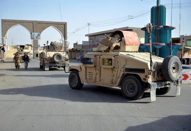 Fuerzas de seguridad en la ciudad de Ghazni