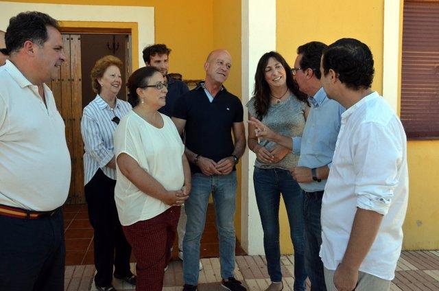 Lóles López, durante su visita a Valdelamusa (Huelva)