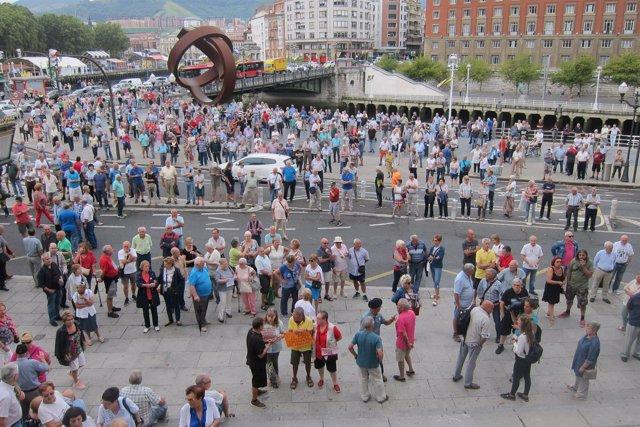 Concentración de Pensionistas Bizkaia en Bilbao