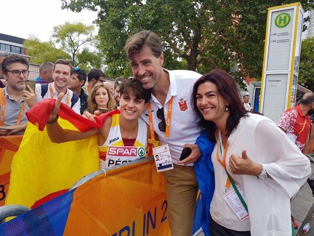 María Pérez, tras ganar el Campeonato de Europa en los 20 kilómetros marcha