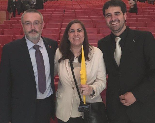 Luis Gandía, Cristina Salazar y Fernando Bimbela, investigadores del proyecto