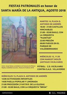 Cartel promocional de las fiestas de La Antigua