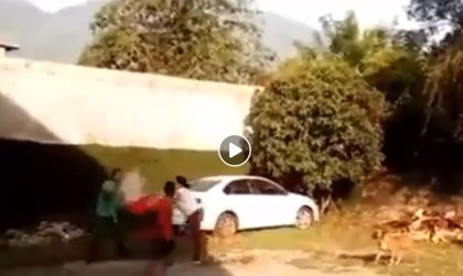Una mexicana prende fuego y dispara a su marido