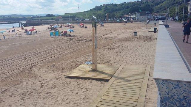Mejora en las playas de Suances
