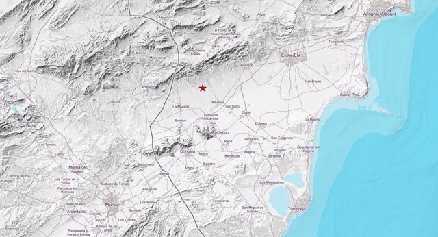 Localización de un terremoto en Albatera