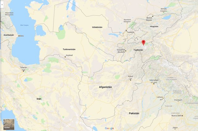 Ubicación del pico Ismail Samani, en Taykistán