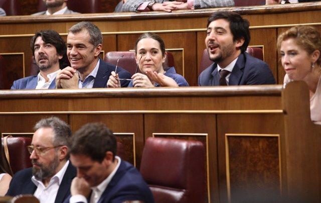 Toni Roldán y otros diputados de Ciudadanos