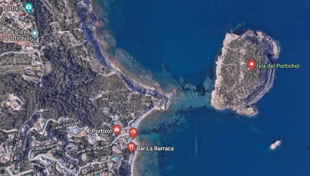 Isla del Portitxol en Xàbia (Alicante)