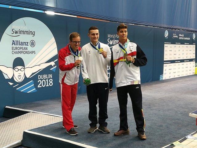 España inaugura con seis medallas el Europeo de natación paralímpica de Dublín