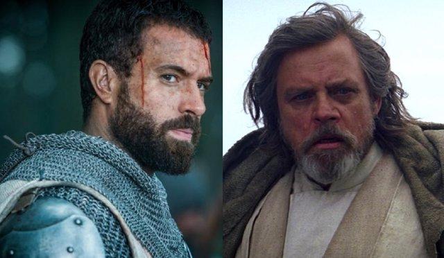 Tom Cullen en Knightfall y Mark Hamill en Star Wars: El despertar de la fuerza