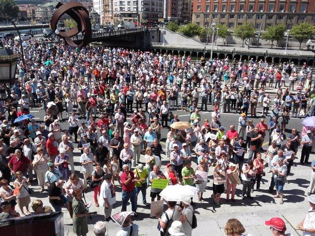 Foto de archivo del Movimiento Pensionistas de Bizkaia