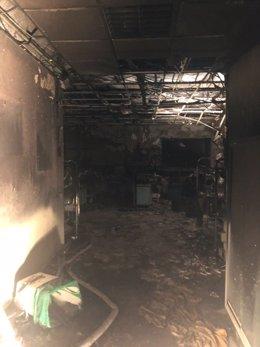 Área de Urgencias de La Candelaria afectada por el incendio