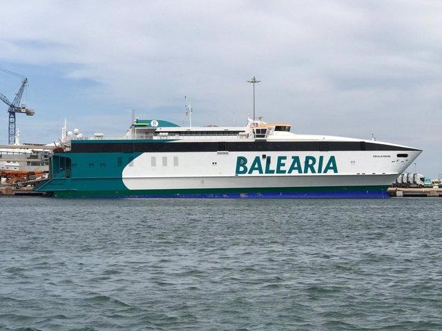 El buque Cecilia Payne de Baleària