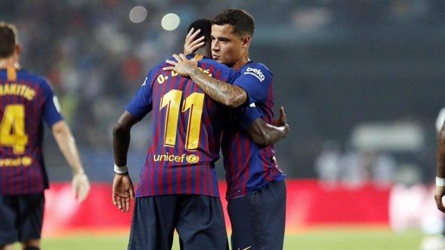 El FC Barcelona se presenta ante su afición y Boca Juniors en el Trofeo  Joan Gamper 484c88aba3a