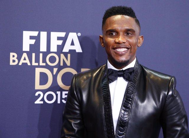 Samuel Eto'o en los premios de la FIFA