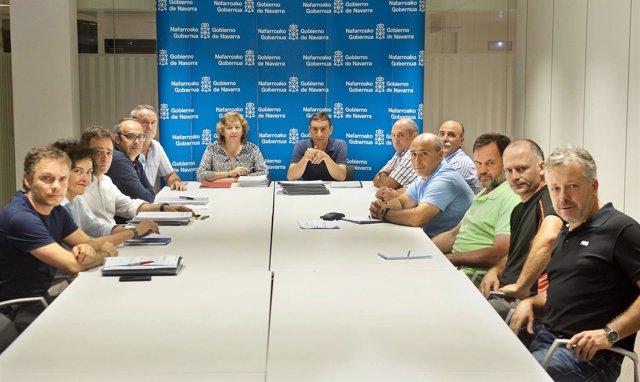 Sesión del Consejo Agrario de Navarra presidido por la consejera Elizalde