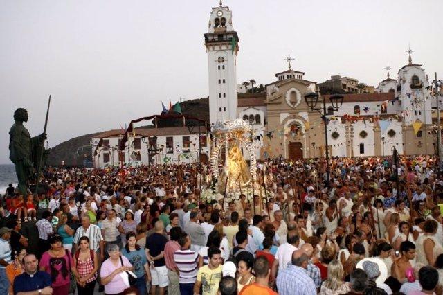 Celebración de la festividad de la Virgen de Candelaria