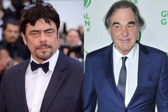 Benicio del Toro y Oliver Stone