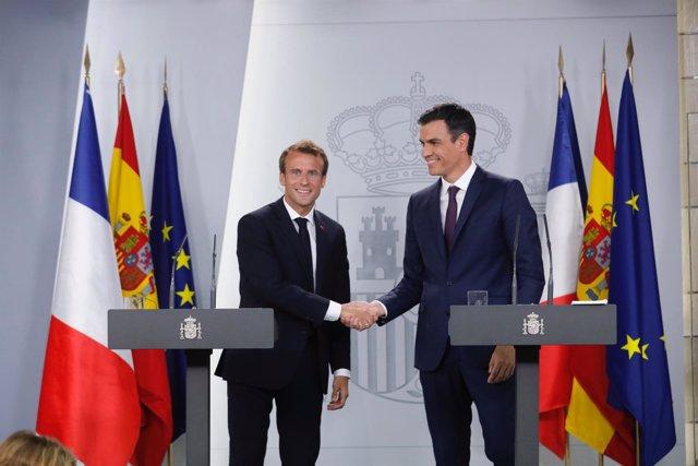 Macron se reúne con Sánchez en La Moncloa