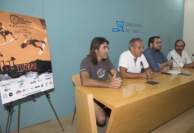 Prresentación de torneo de kiteboard de Tarifa