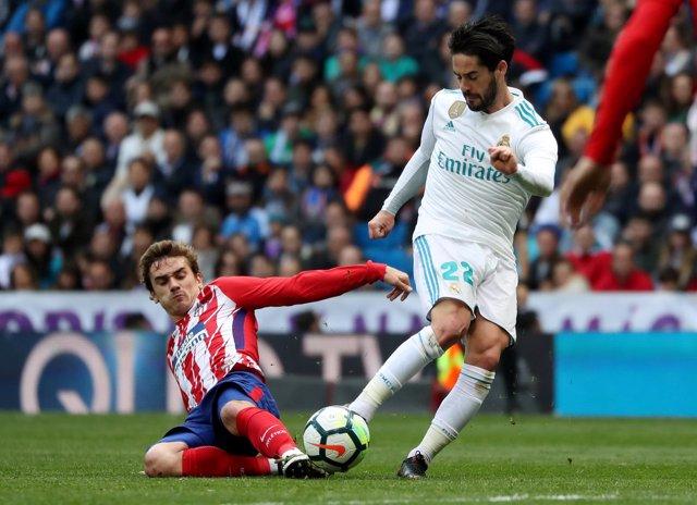 Antoine Griemann Isco Real Madrid Atlético