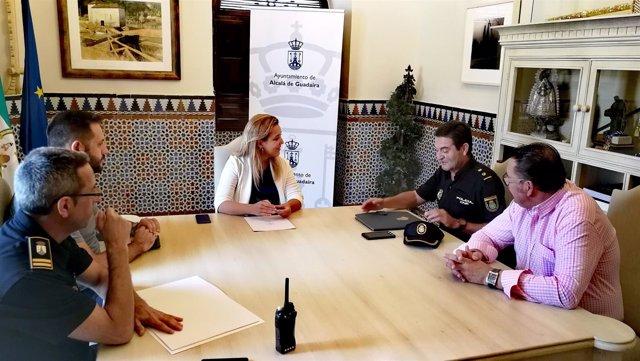 Reunión de la alcaldesa de Alcalá con las fuerzas y cuerpos de seguridad